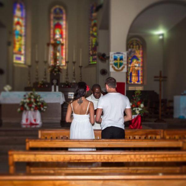 Не так давно Катя и Олег сыграли тайную свадьбу