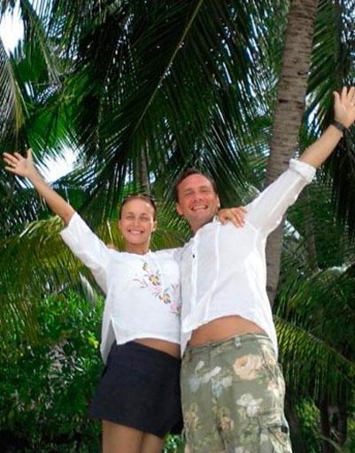 Отпуск молодожены провели на Мальдивах