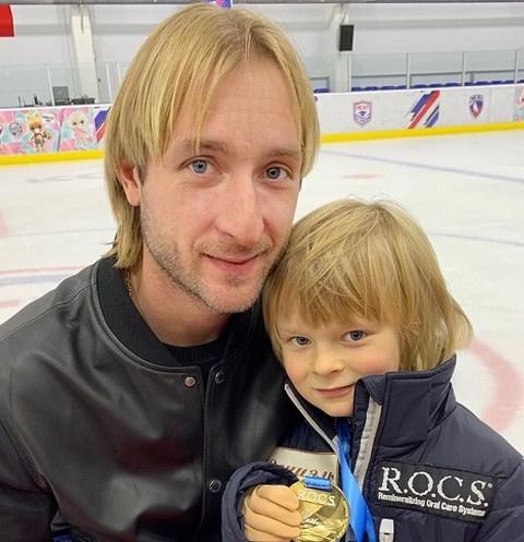 Евгений Плющенко и Саша Плющенко