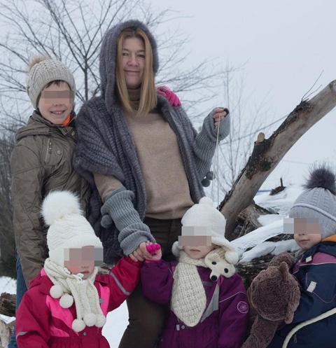 Светлана Дель с детьми