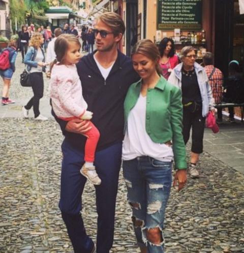 Виктория Боня с Алексом Смерфитом и дочерью Анджелиной