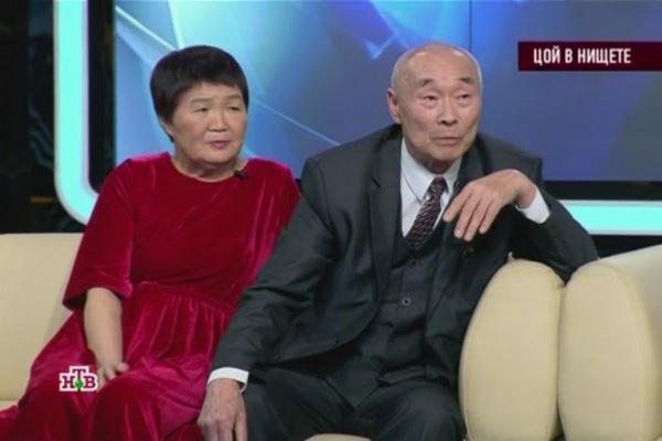 Роберт Цой с женой Мариной