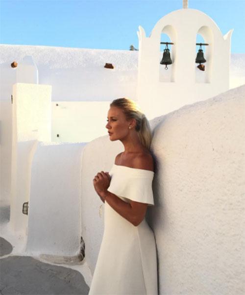 Елена Летучая в платье невесты