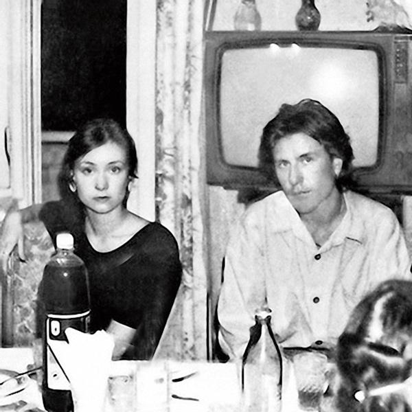 Гришаева с первым мужем Антоном Деровым, 1990-е годы