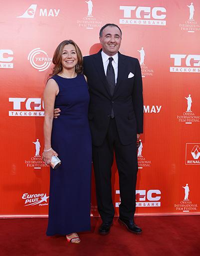 Александр Роднянский с женой Валерией