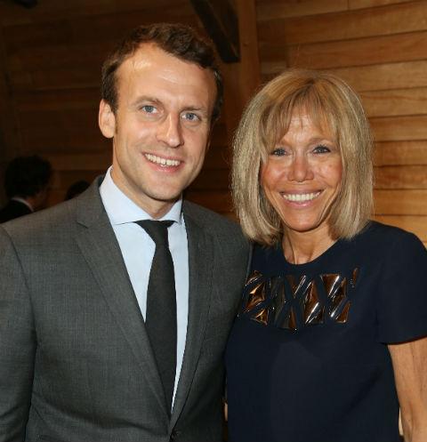 Эммануэль Макрон с супругой Бриджит