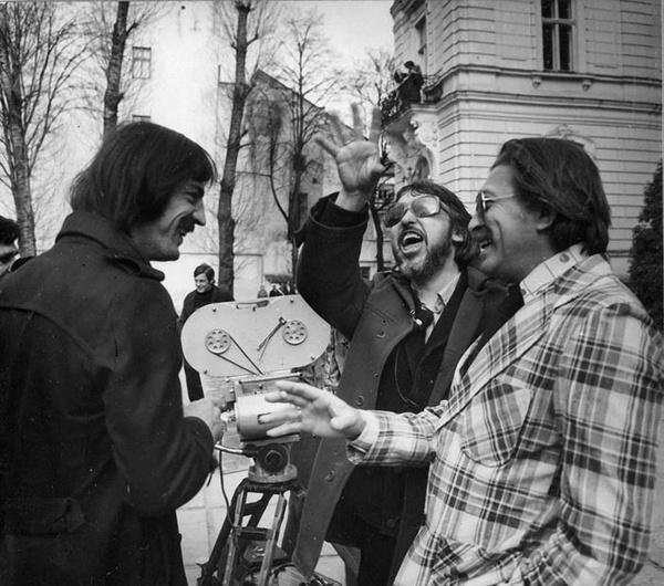 Боярский, Юнгвальд-Хилькевич и Балон на обсуждении сцены