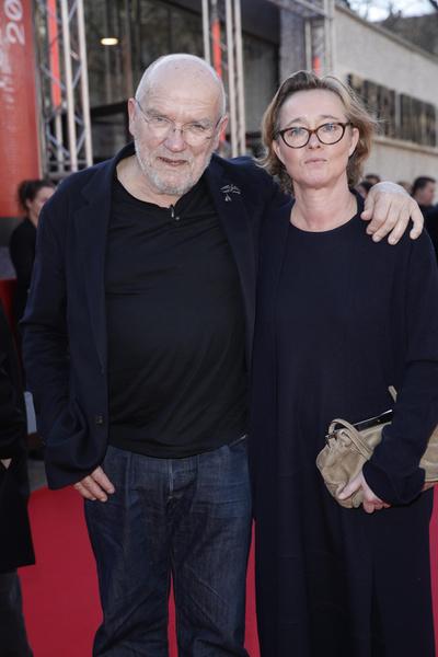 Питер Линдберг с женой Астрид
