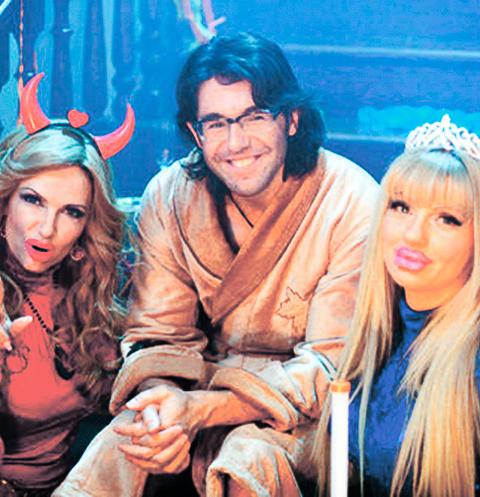 Я на съемках «Одна за всех» с Анной Ардовой (Энджи) и Эвелиной Бледанс (Крис)