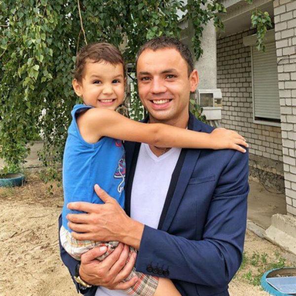 Саша Гобозов с сыном Робертом