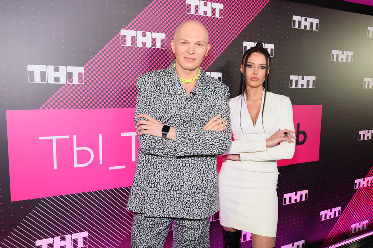 Гоша Карцев и Анастасия Решетова на презентации шоу «ТЫ_Топ-модель на ТНТ»