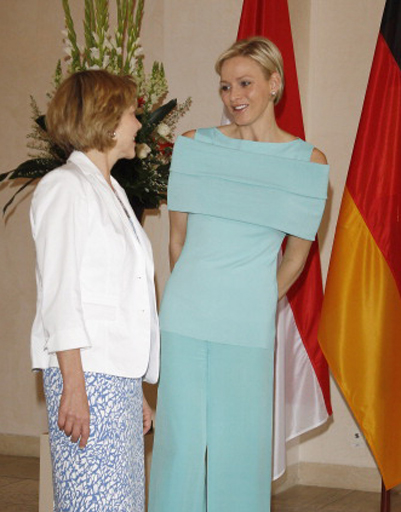 Княгиня Шарлен и первая леди Германии Даниэла Шадт