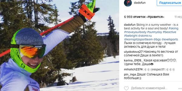 Дарья Домрачева в своей привычной стихии – на лыжне