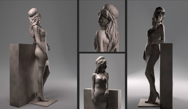 Скульптура певицы