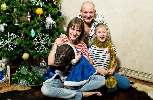 Дмитрий Марьянов с семьей