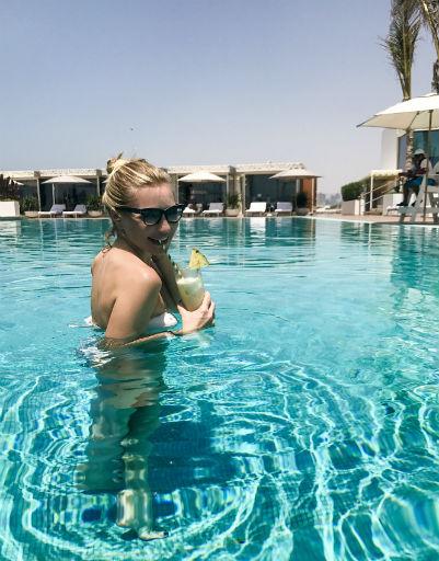 Инна выбрала Дубай из-за хорошей погоды