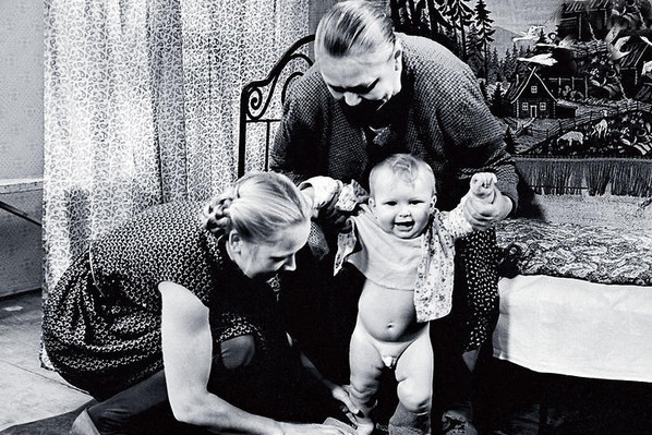 The actress's son took his first steps on the set of the film