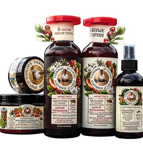 Продукция бренда «Рецепты бабушки Агафьи»
