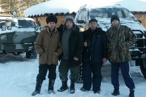 Вместе во время отдыха в тайге, 2005 год