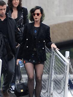 Зеленоволосая Кэти Перри в Лондоне