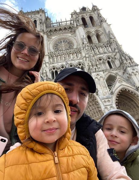L'One с женой и детьми