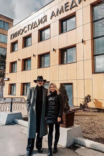 Екатерина Боярская с дедушкой