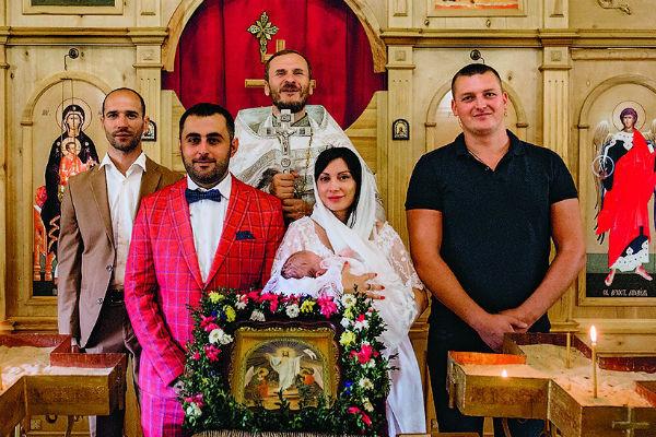Аврора с крестными родителями
