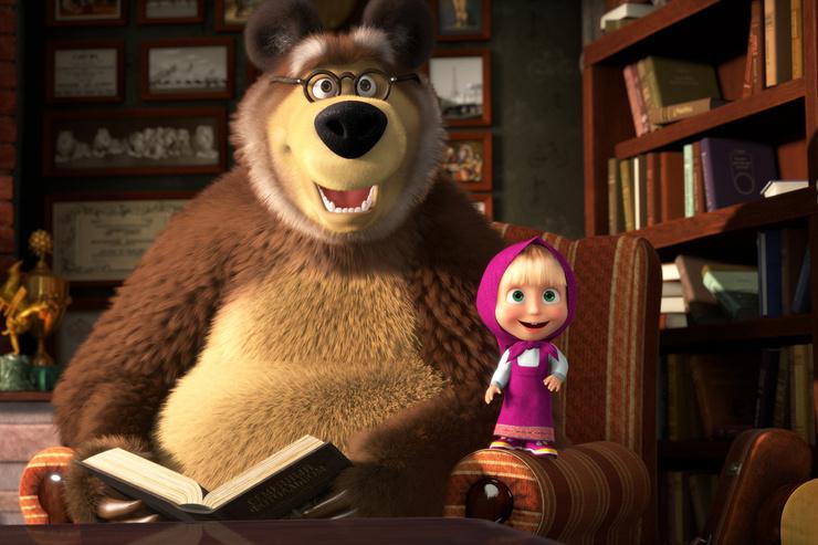 «Маша и Медведь» считается рекордсменом по просмотрам на YouTube