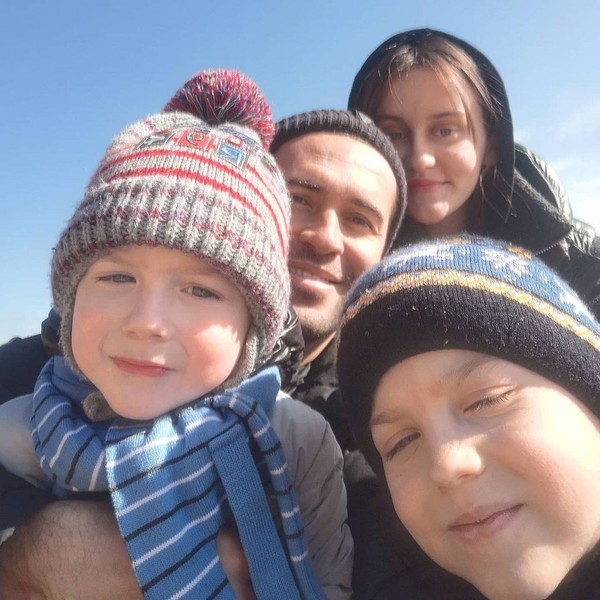 Кержаков с детьми