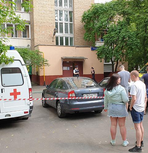 ЧП произошло в Москве на улице Приорова