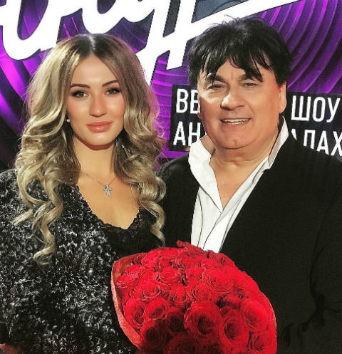 Мишель с отцом Александром Серовым