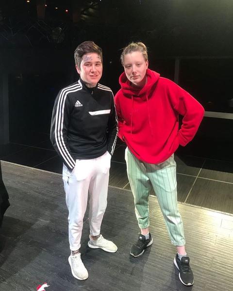 Бэлла Кузнецова и Костья Купер во время съемок проекта