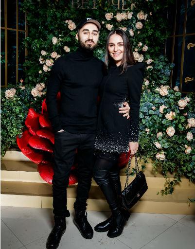 Рэпер Мот с женой