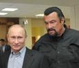 Владимир Путин и Стивен Сигал открыли дворец спорта