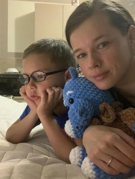 Актриса надеется, что никакие болезни не передадутся сыну Герману