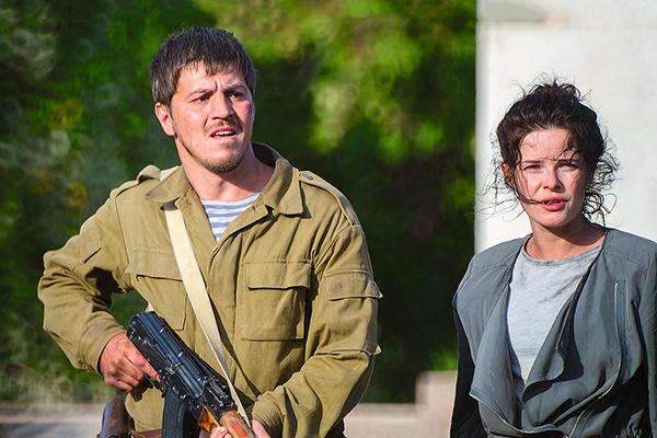 С партнером по фильму «Донбасс. Окраина» Гелой Месхи