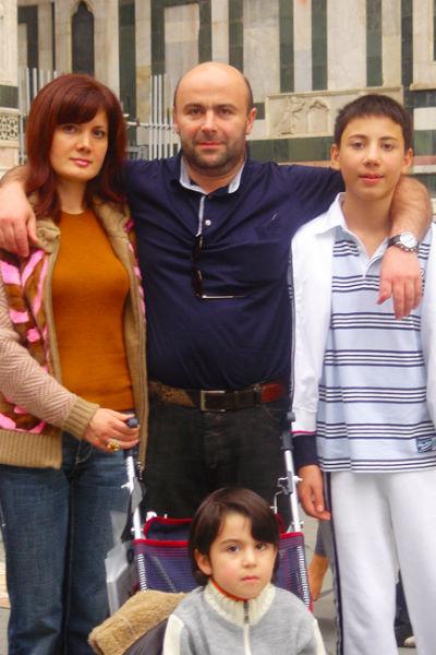 Михаил Хубутия с семьей