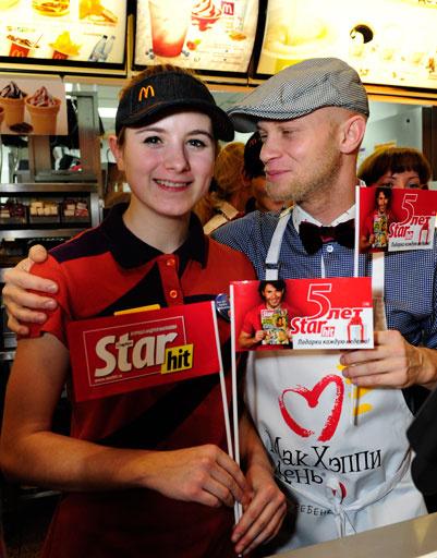 Дмитрий Хрусталев флиртовал с сотрудницами «Макдоналдс»