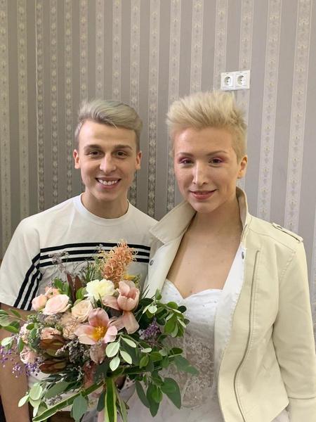 Невеста со стилистом Ильей Малыхиным
