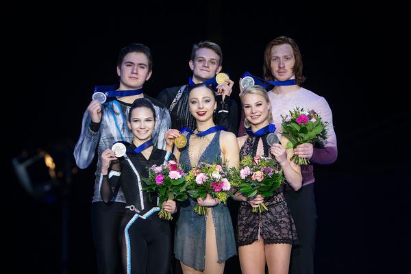 В парном фигурном катании все три призовых места заняли российские спортсмены