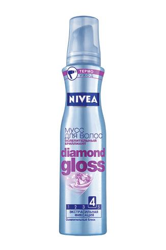 NIVEA, мусс для волос «Ослепительный бриллиант», 122 руб