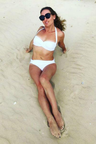 Винокур не стесняется демонстрировать фигуру на пляже