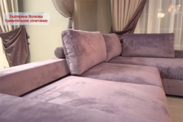 Угловой диван обит антивандальной тканью