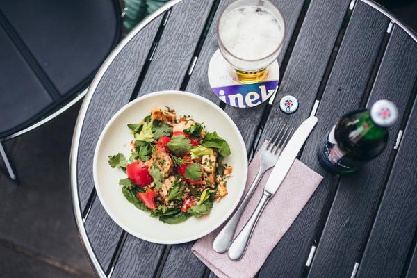 Салат с цыпленком и булгуром
