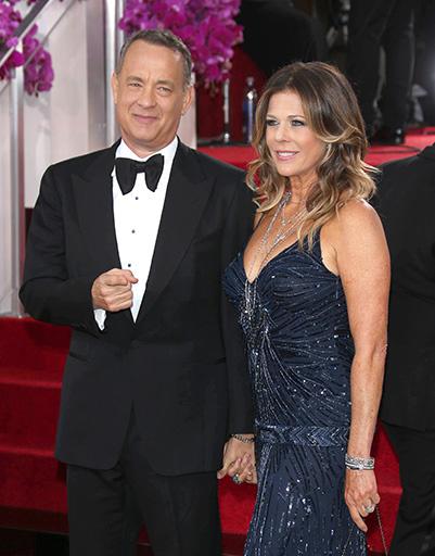 Том Хэнкс с супругой