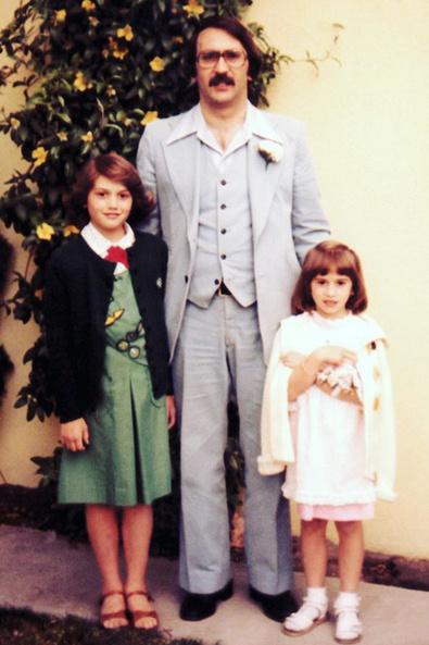 Гвен Стефани с отцом и младшей сестрой