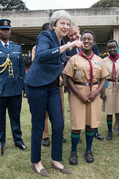 Тереза Мэй в Кении