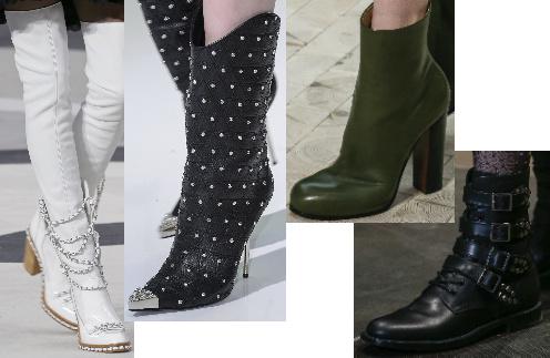 Обувь на моделях с показов AW-2013/2014: Chanel, Versace, Celine, Saint Laurent