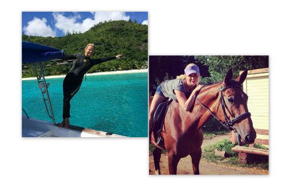 Анна Семенович выбирает дайвинг и конный спорт