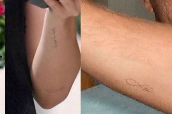Дакота и Крис набили на руке одинаковые татуировки